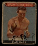 1933 Goudey Sport Kings #44   Max Baer  Front Thumbnail