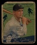 1934 Goudey #70  Pete Fox  Front Thumbnail
