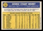 1970 Topps #328   George Brunet Back Thumbnail