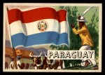 1956 Topps Flags of the World #57   Paraguay Front Thumbnail