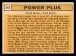 1963 Topps #242  Power Plus   -  Ernie Banks / Hank Aaron Back Thumbnail