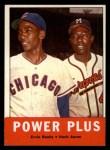 1963 Topps #242  Power Plus   -  Ernie Banks / Hank Aaron Front Thumbnail