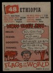 1956 Topps Flags of the World #48  Ethiopia  Back Thumbnail
