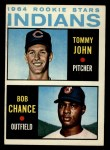 1964 Topps #146   Indians Rookie Stars  -  Tommy John / Bob Chance Front Thumbnail