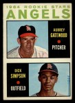 1964 Topps #127   Angels Rookie Stars  -  Dick Simpson / Aubrey Gatewood Front Thumbnail
