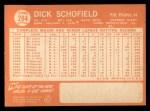 1964 Topps #284   Dick Schofield Back Thumbnail