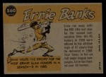 1960 Topps #560  All-Star  -  Ernie Banks Back Thumbnail