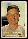 1957 Topps #380   Walker Cooper Front Thumbnail