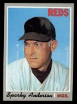 1970 Topps #181  Sparky Anderson  Front Thumbnail