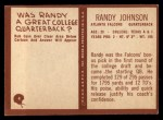 1967 Philadelphia #4  Randy Johnson  Back Thumbnail