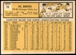 1963 Topps #16  Al Smith  Back Thumbnail