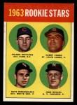 1963 Topps #54 COR  Rookie Stars   -   Nelson Matthews / Harry Fanok / Jack Cullen / Dave DeBusschere Front Thumbnail