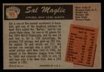 1955 Bowman #95   Sal Maglie Back Thumbnail