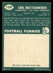 1960 Topps #109   Carl Brettschneider Back Thumbnail
