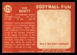 1958 Topps #125  Tom Scott  Back Thumbnail
