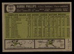 1961 Topps #101   Bubba Phillips Back Thumbnail