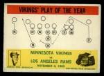1964 Philadelphia #112   -  Norm Van Brocklin Minnesota Vikings Front Thumbnail