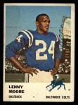1961 Fleer #32  Lenny Moore  Front Thumbnail