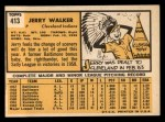 1963 Topps #413 A  Jerry Walker Back Thumbnail