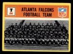 1967 Philadelphia #1   Atlanta Falcons Team Front Thumbnail