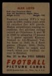 1951 Bowman #31   Alex Loyd Back Thumbnail