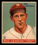 1933 Goudey #139  Ben Cantwell  Front Thumbnail