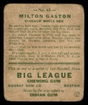 1933 Goudey #65  Milt Gaston  Back Thumbnail