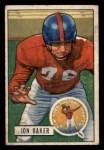 1951 Bowman #57  John Baker  Front Thumbnail