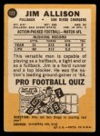 1967 Topps #122   Jim Allison Back Thumbnail