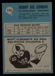1964 Philadelphia #170  Bobby Joe Conrad  Back Thumbnail