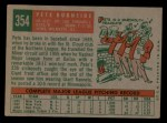 1959 Topps #354   Pete Burnside Back Thumbnail