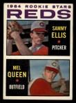 1964 Topps #33  Reds Rookies  -  Sammy Ellis / Mel Queen Front Thumbnail