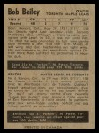 1954 Parkhurst #28  Bob Bailey  Back Thumbnail