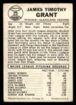 1960 Leaf #25 ERR Mudcat Grant  Back Thumbnail