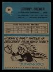 1964 Philadelphia #29   Johnny Brewer Back Thumbnail
