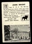 1951 Topps #72   John Bright Back Thumbnail
