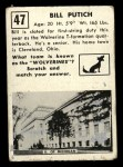1951 Topps #47   Bill Putich Back Thumbnail