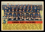 1956 Topps #7   Packers Team Front Thumbnail