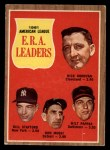 1962 Topps #55  1961 AL ERA Leaders  -  Dick Donovan / Bill Stafford / Don Mossi / Milt Pappas Front Thumbnail