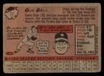 1958 Topps #75   Gus Bell Back Thumbnail