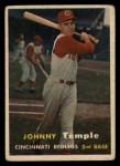 1957 Topps #9   Johnny Temple Front Thumbnail