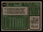 1974 Topps #564  Mike Ryan  Back Thumbnail