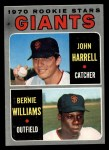 1970 Topps #401  Giants Rookies  -  John Harrell / Bernie Williams Front Thumbnail
