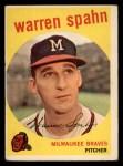 1959 Topps #40 COR  Warren Spahn Front Thumbnail