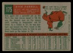 1959 Topps #175   Dick Farrell Back Thumbnail