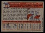 1957 Topps #35  Frank Robinson  Back Thumbnail