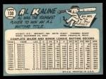 1965 Topps #130   Al Kaline Back Thumbnail
