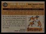 1960 Topps #136  Rookies  -  Jim Kaat Back Thumbnail