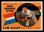 1960 Topps #136  Rookies  -  Jim Kaat Front Thumbnail