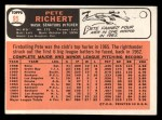1966 Topps #95   Pete Richert Back Thumbnail